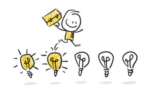 Strichfiguren / Strichmnnchen: Ideen, Erfolg, Investor. (Nr. 109)